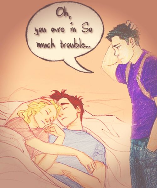 This had to have been the cutest/most embarrassing scene in the Percy Jackson series