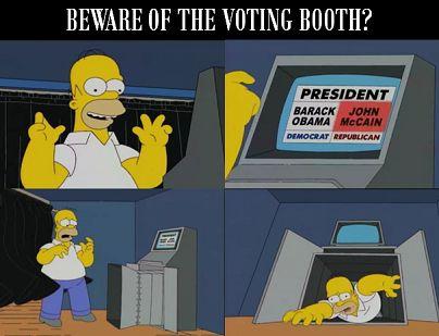 simpsons voting machine