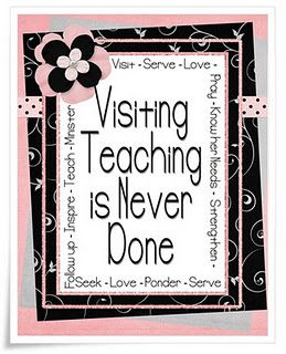 Lots of Visiting Teaching ideas to go for every month