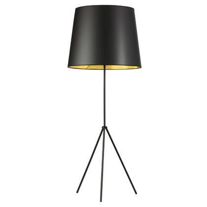 Od4l F 698 Mb 1 Light 3 Leg Oversize Drum Floor Lamp With Black On