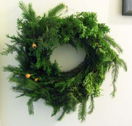 how to make an evergreen wreath - the smell of it!