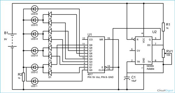circuit diagram  led and electronic circuit on pinterest