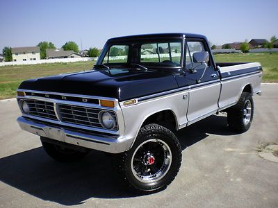1975 ford f 250 4x4 no rust factory highboy photo 3. Black Bedroom Furniture Sets. Home Design Ideas