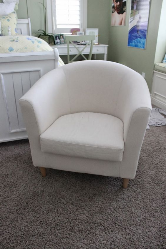 Barrel Chair White Armchair And Slipcover Chair On Pinterest