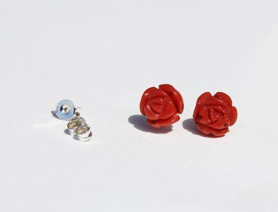 boucles d'oreilles en corail rouge de Corse 1er choix certifié : Boucles d'oreille par les-tresors-de-la-corse