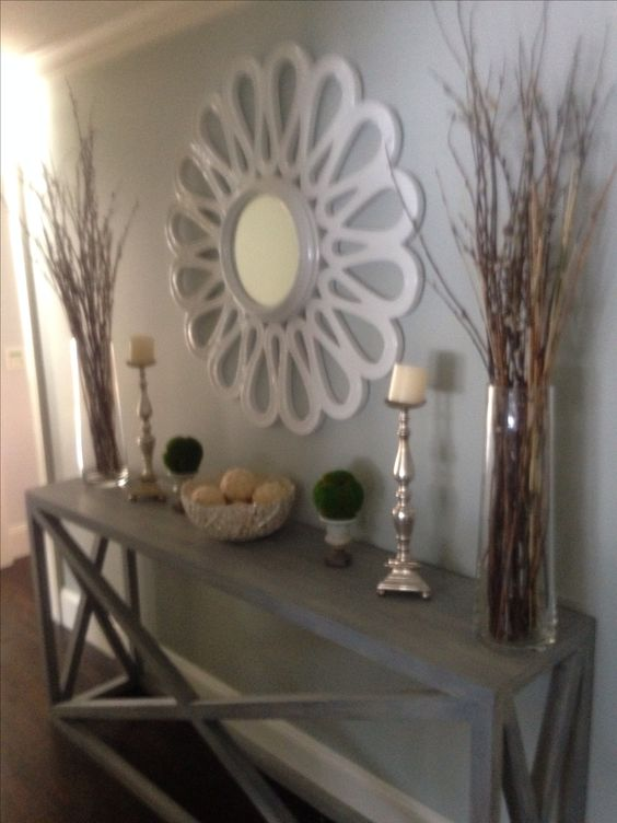Long hallway hallways and mirror on pinterest for Hallway wall decor