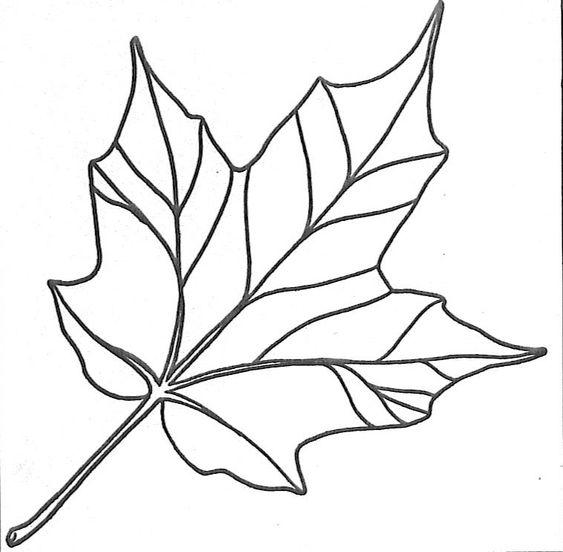 Herbst Ausmalbild Herbstlaub Ahorn | Kita - Herbst | Autumn ...