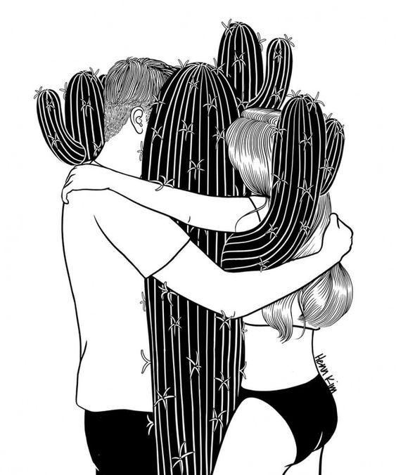 Artista coreano realiza ilustraciones acerca delas dificultades del amor que todo aquel que alguna vez haya tenido una relación entenderá