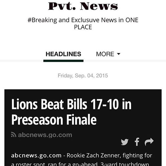 #Lions #Beat #Bills 17-10 Pvt. News is OUT  t.co/8zY1RzwmVj or Google #PvtNews #News #HipHop #Sports #Pictures #Celebrity #EndHomeLessness #Horoscope #Money #TV #Politics #Leisure #WorldNews #Health #Deaths #Science & #BreakingNews #ArondTheNation #USA #NetWorking #Face #Trump2016 #Views #RealEstate #Trending #HashTags & #More