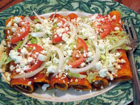 Enchiladas rojas de pollo #enchiladasrojas #Mexicana #receta