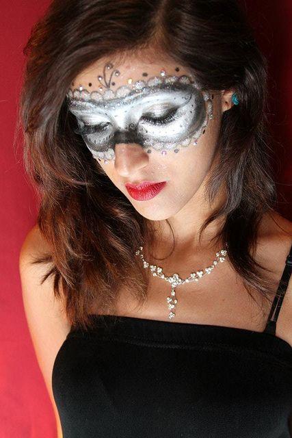 Masquerade makeup mask
