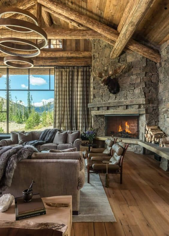 34 Corner Fireplace Ideas Burn It With Style In 2020 Rustic