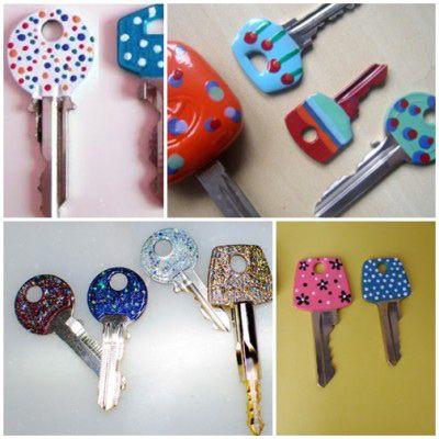 Hoje trago-vos um DIY  para as vossas chaves .   Por vezes torna-se difícil distinguir as chaves umas das outras quando temos um porta-chav...