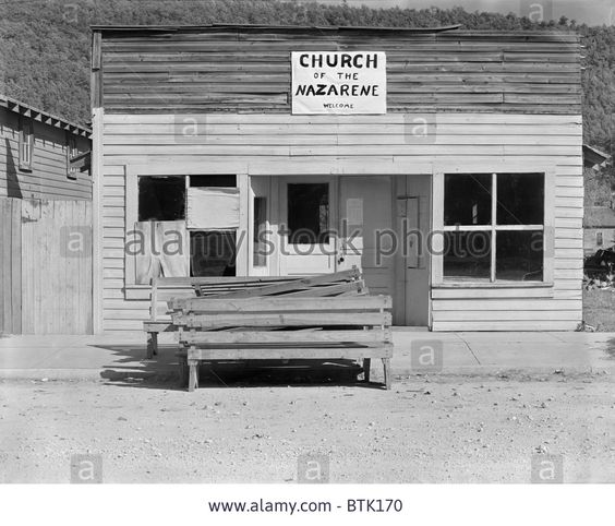 The Church of the Nazarene. Tennessee, photograph by Walker Evans, 1936. Stock Photo