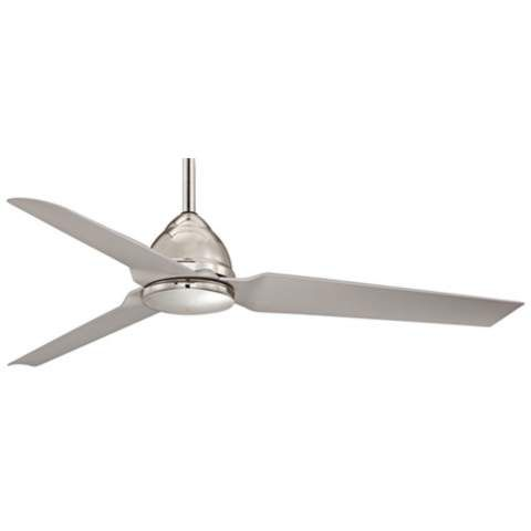 "54"" Minka Aire Java Nickel Indoor/Outdoor Ceiling Fan - #W9976 