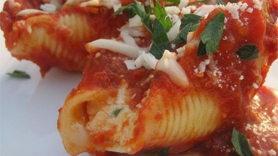 Stuffed Shells (cottage cheese). Used fresh parsley and added spinach. Could be fun to experiment with!
