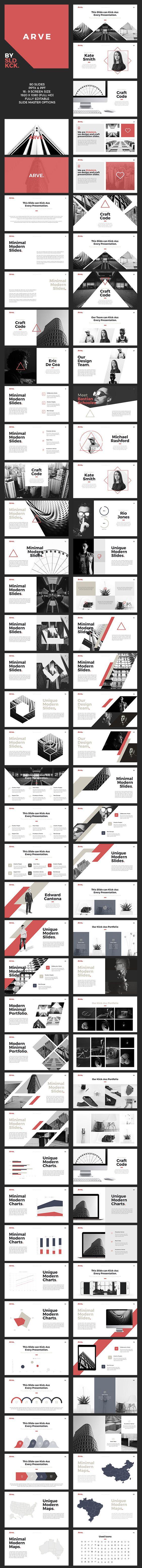 arve - modern powerpoint presentation | presentation templates, Presentation templates