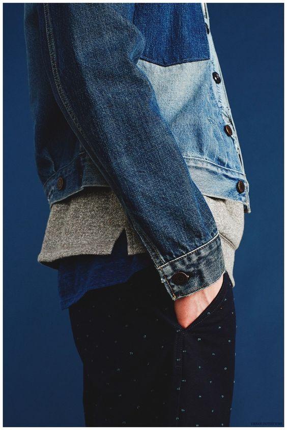 Modern Blues Trend: John Hein Rocks Mens Spring Denim Looks for Urban Outfitters