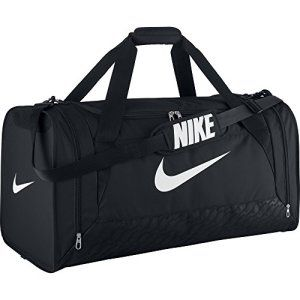 Nike Brasilia 6 Sac de sport en toile noir Noir/blanc grand