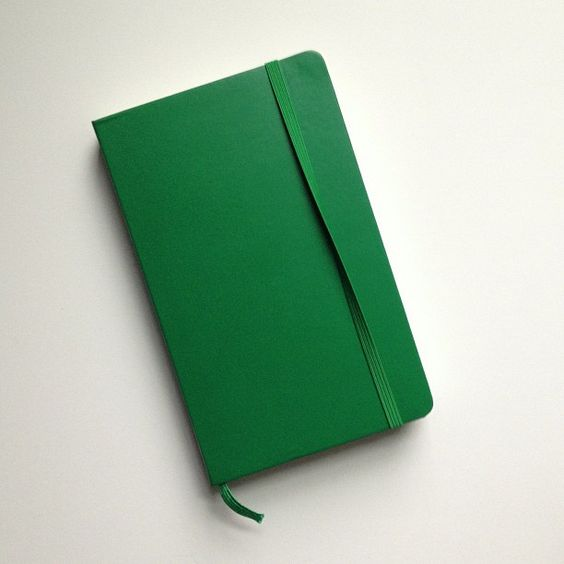 Green Moleskine / photo by Brian W. Ferry
