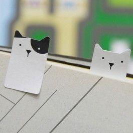 Marcadores de páginas - Gatos