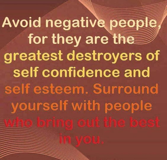 About negative people!