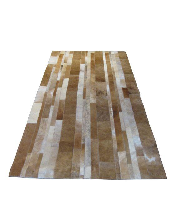 Striped Pattern Hide Carpet Runners