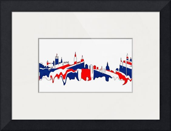 #London #Skylines British Flag Colors