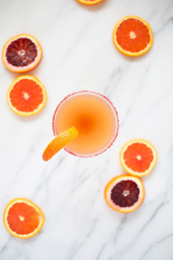 Blood Orange Sidecar Cocktail