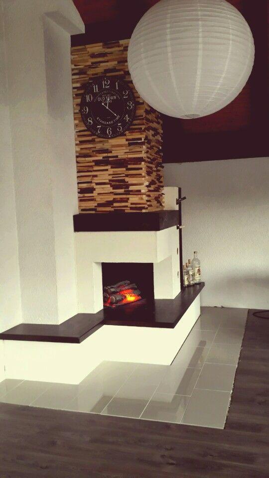 Unseren kamin verkleiden mit anmachholz holz ideen - Wandschmuck wohnzimmer ...