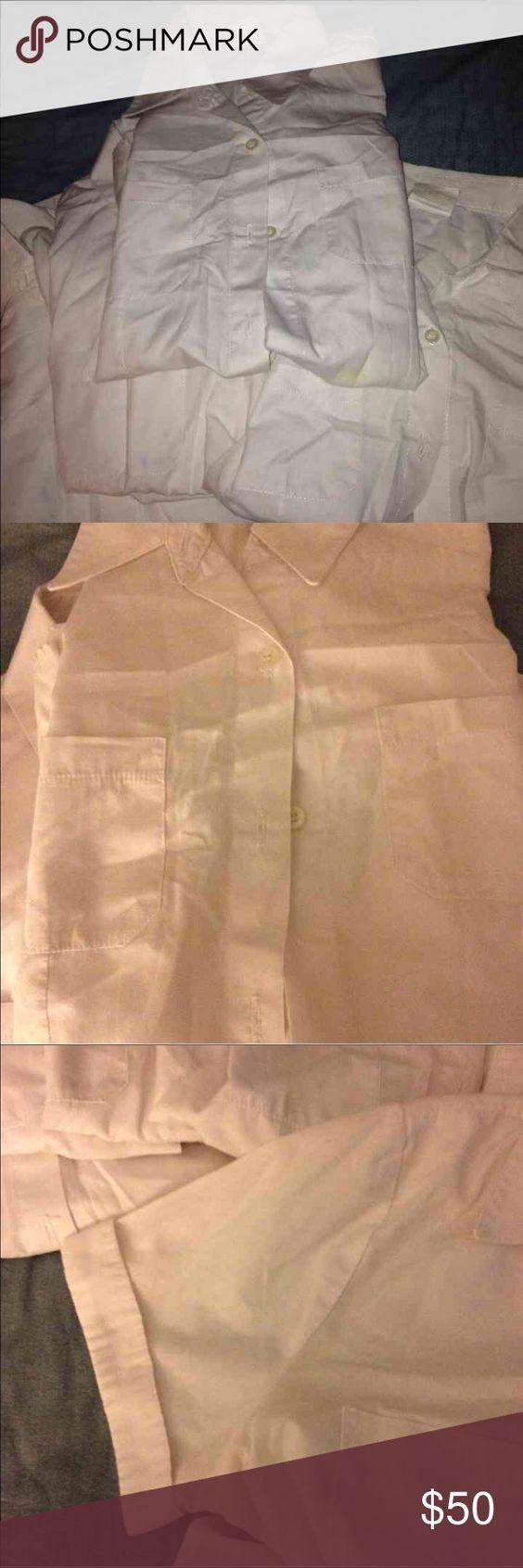 🚌 Back to School Uniform Shirt Pack 🚌 Dennis Uniform - Set of 5 girls white uniform shirts. Two pockets. Short sleeves. Dennis Uniform Shirts & Tops Blouses