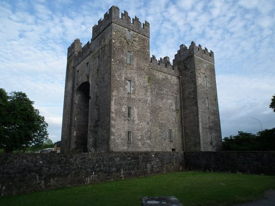 Bunratty Castle, County Clare, Ireland. The present structure was completed around 1425.