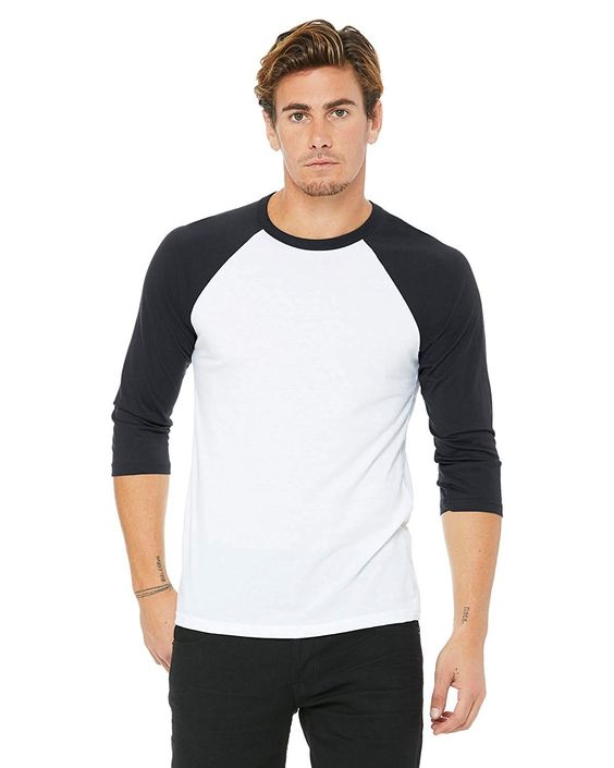 Bella Canvas Unisex Jersey 3/4 Sleeve Baseball Tee at Amazon Men's Clothing store: