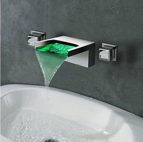 Type Bathroom Sink Tub Faucet Faucet Body Material Brass Faucet Handle Material Bathroom Sink Taps Wall Mounted Bathroom Sinks Bathroom Sink Faucets Chrome