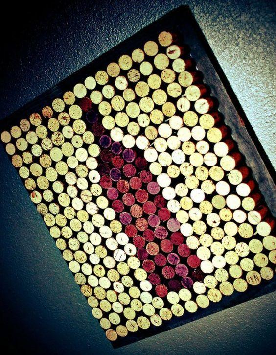 basteln mit korken weinflasche rot wine corks. Black Bedroom Furniture Sets. Home Design Ideas