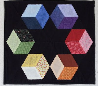 Love the color & contrast! English Paper Piecing from bluepatch quilter