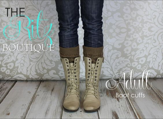 Adult boot cuffs  crochet boot cuffs boot socks by TheRitzBoutique, $9.99