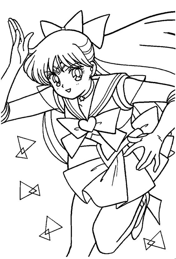 Sailor Venus Coloring Page // #sailormoon | Sailor Moon ...