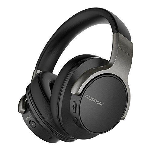 Tv Noise Cancelling Headphones Ausdom Anc 8 Over Ear Bluetooth Wireless Headph Best Noise Cancelling Headphones Over Ear Headphone Noise Cancelling Headphones