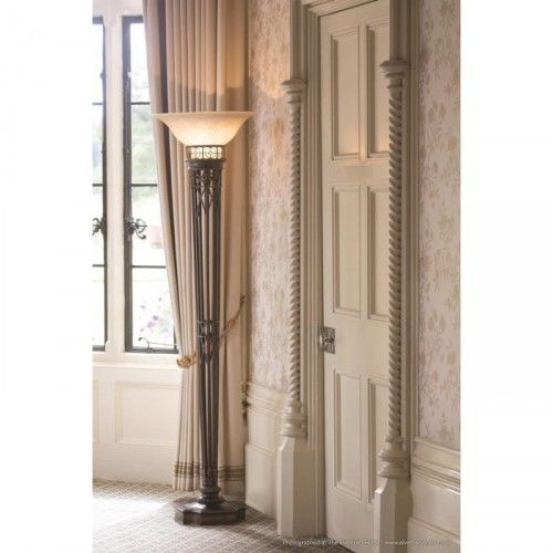 Eltham Manor Antique Gold Floor Lamp In 2020 Floor Lamp Gold Floor Lamp Torchiere Floor Lamp