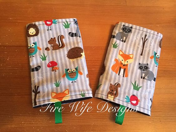 Forest Animals Drool/Suck Pads for Soft by FireWifeDesigns on Etsy
