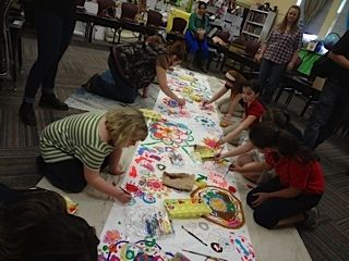 """circle painting"" Art Festival 2013... Piedmont Community Charter School: A Challenge Foundation Academy"