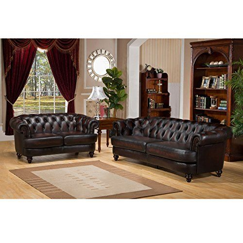 Amax Leather Mario 100 Leather Sofa And Loveseat Burgundy Brown To View Further For Leather Sofa And Loveseat Leather Living Room Set Sofa And Loveseat Set
