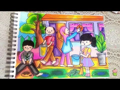 Tema Jagalah Kebersihan Menggambar Dan Mewarnai Dengan Crayon