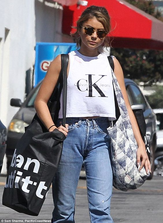 Gone shopping: Sarah Hyland treated herself to some retail therapy in LA on…