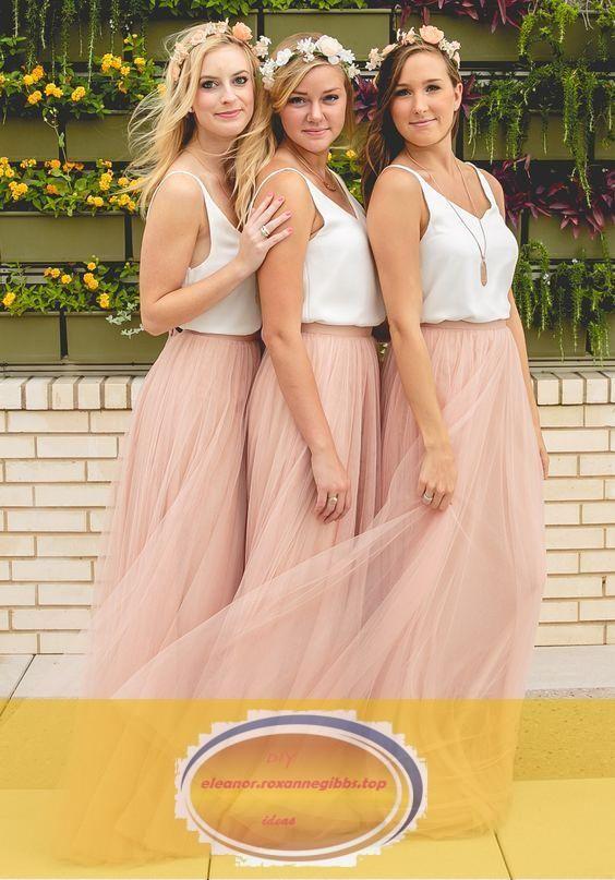Brautjungfernkleider Altrosa Weiss Lang Trager Tull Bodenlang Kleider Fur Bra Brautjung In 2020 Brautjungfern Kleider Tull Brautjungfer Kleid Brautjungfernkleider Rosa