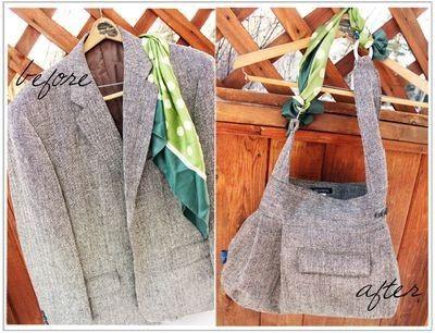 repurposed-suit-coat handbag diy diys-and-tutorials-and-good-ideas