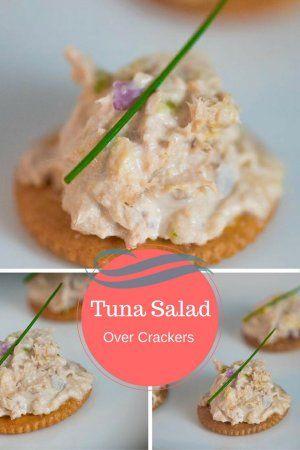 Tuna Salad Over Crackers - Panlasang Pinoy