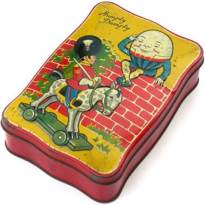 A LOVELY VINTAGE HUMPTY DUMPTY DAINTY DINAH TOFFEE TIN GEORGE W HORNER (03/04/2012)