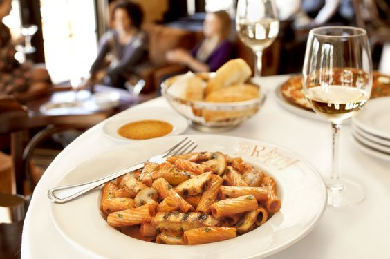 Our signature dish-rigatoni tossed with grilled chicken and mushrooms ...